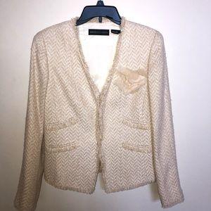 Dana Buchman Boucle Cream Jacket Blazer 6